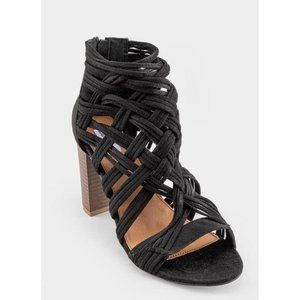 Not Rated | NWT Silica Woven Heeled Sandals